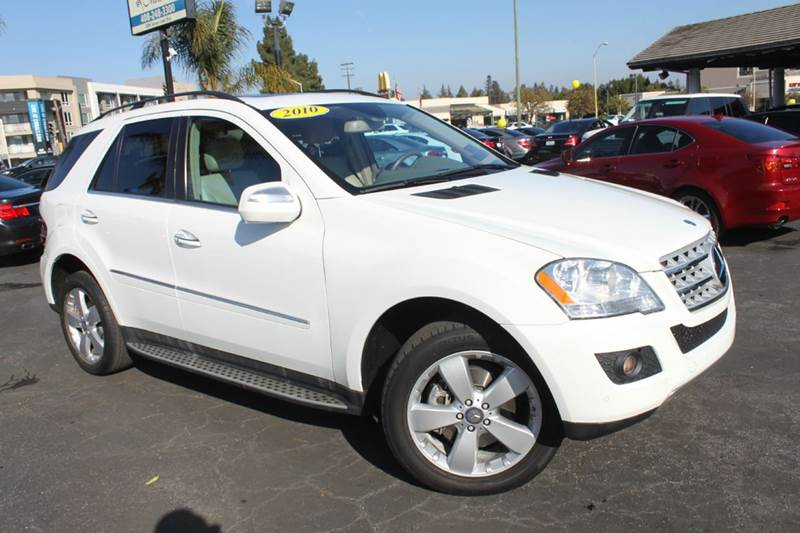 2010 MERCEDES-BENZ M-CLASS ML 350 4MATIC AWD 4DR SUV white 2-stage unlocking doors 4wd type - fu