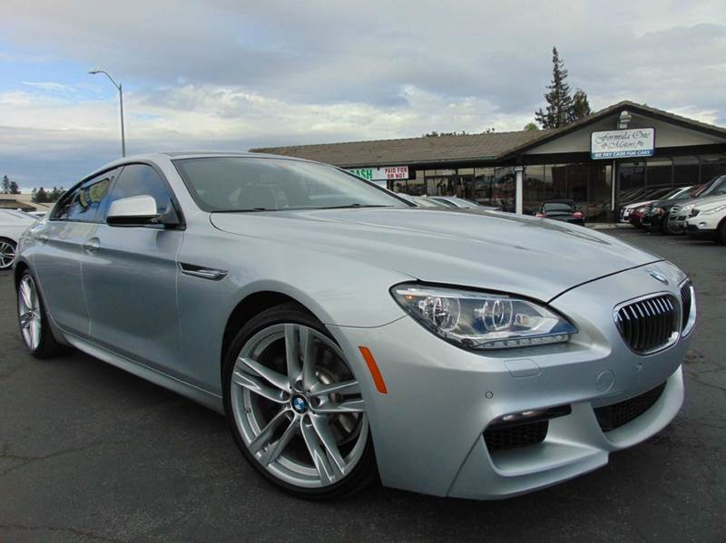 2014 BMW 6 SERIES 640I GRAN COUPE 4DR SEDAN silver one ownerclean carfax reportcalifornia