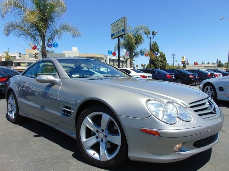 2004 MERCEDES-BENZ SL-CLASS SL 500 2DR CONVERTIBLE champagne clean carfax reportcalifornia ve