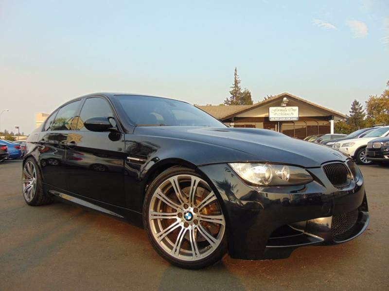 2008 BMW M3 BASE 4DR SEDAN black clean carfax reporttrue 6 speed manualupgraded cold air