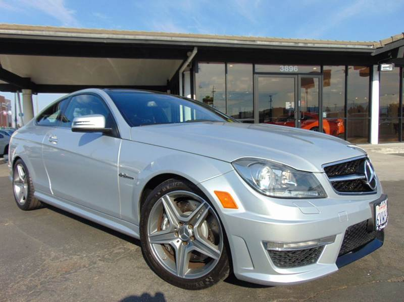 2012 MERCEDES-BENZ C-CLASS C 63 AMG 2DR COUPE silver clean carfax reportcalifornia vehicle