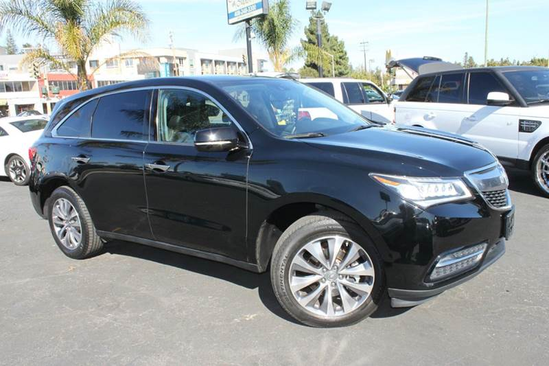 2014 ACURA MDX WTECH 4DR SUV WTECHNOLOGY PACK black clean carfax  1 owner  fully loaded