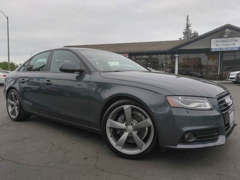 2011 AUDI A4 20T QUATTRO PREMIUM PLUS AWD 4D gray clean carfaxcalifornia vehicle6 spd man