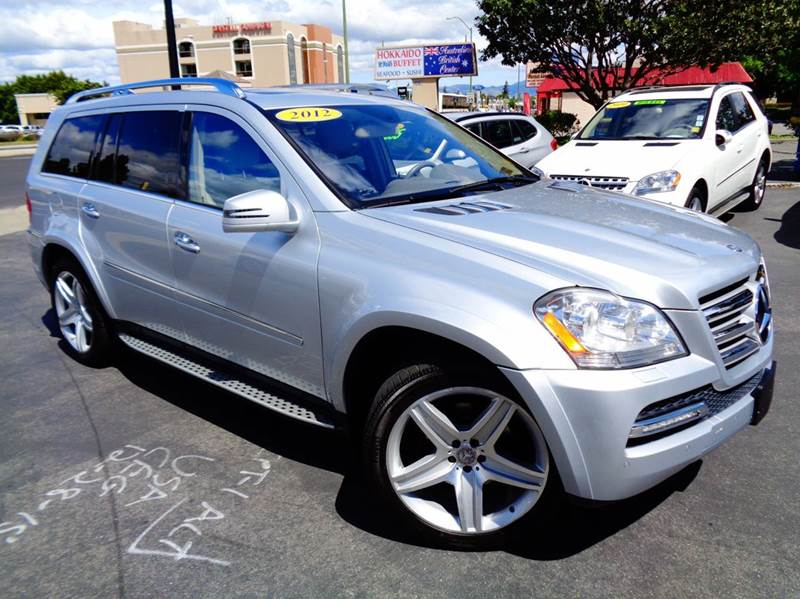 2012 MERCEDES-BENZ GL-CLASS GL550 4MATIC AWD 4DR SUV silver clean carfax gl550 top of the line