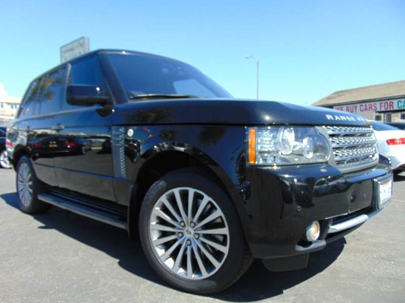 2011 LAND ROVER RANGE ROVER SUPERCHARGED 4X4 4DR SUV black 2-stage unlocking doors 4wd selector -
