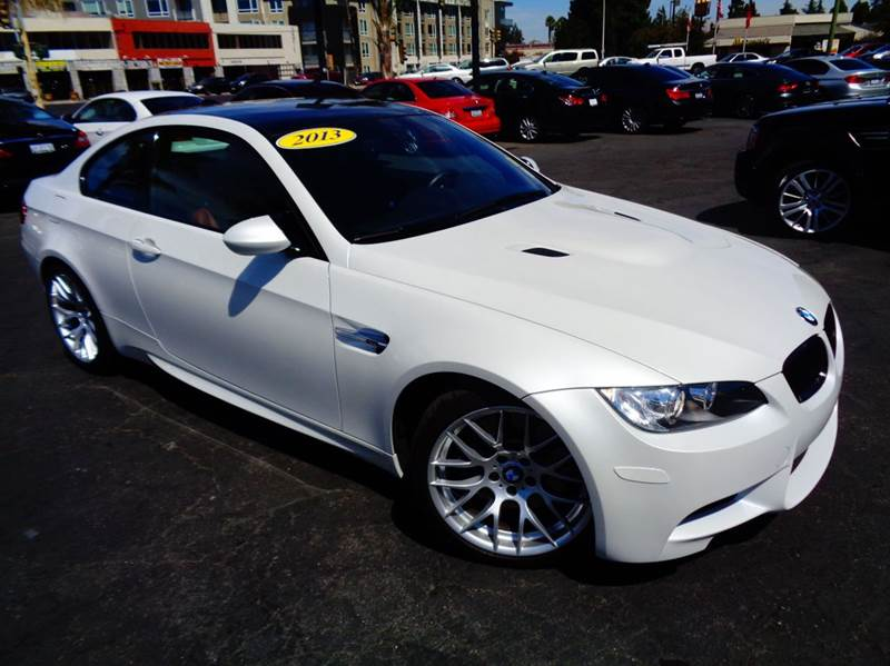 2013 BMW M3 BASE 2DR COUPE mineral white clean carfax california vehicle  loaded  naviga
