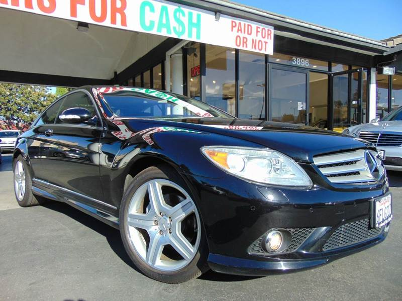 2008 MERCEDES-BENZ CL-CLASS CL550 2DR COUPE black clean carfax  loaded  amg wheels  naviga