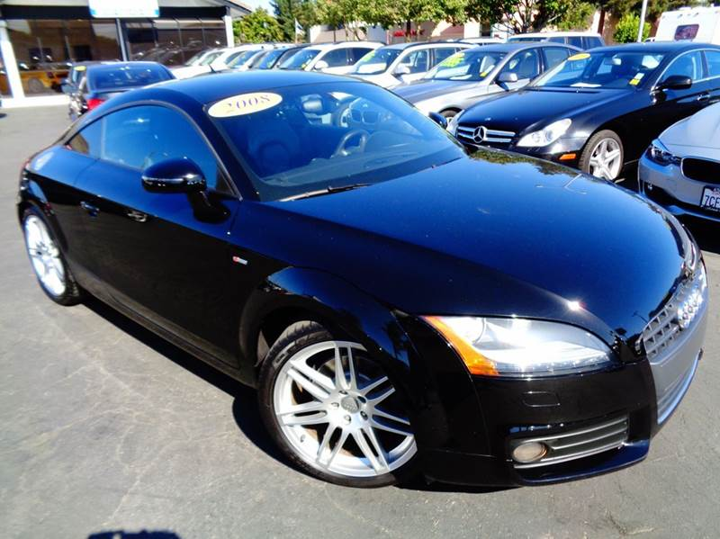 2008 AUDI TT 20T 2DR COUPE black 1 ownerclean carfaxcalifornia vehicle navigation syst