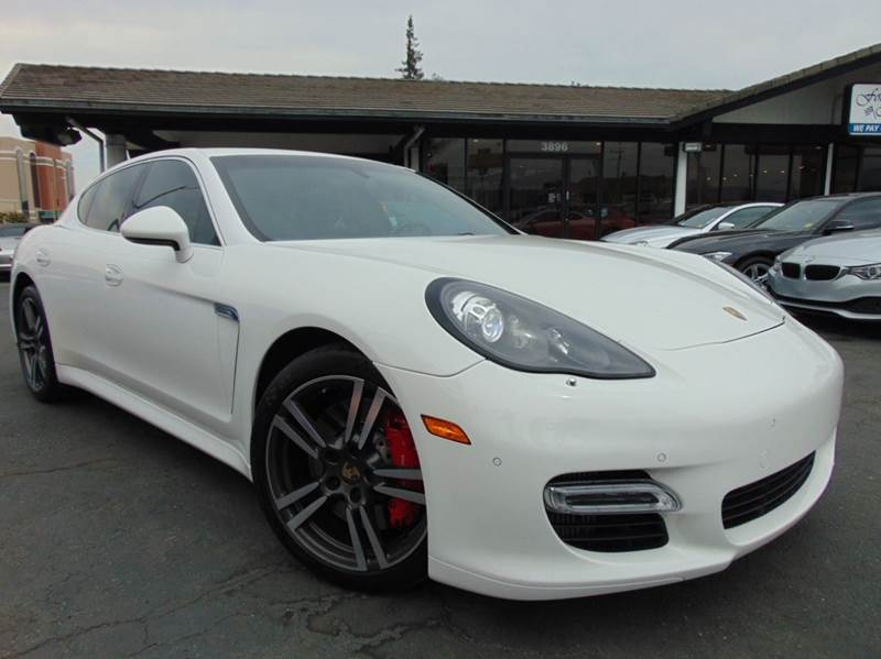 2012 PORSCHE PANAMERA TURBO 4DR SEDAN white clean carfaxcalifornia vehicle2nd ownermet