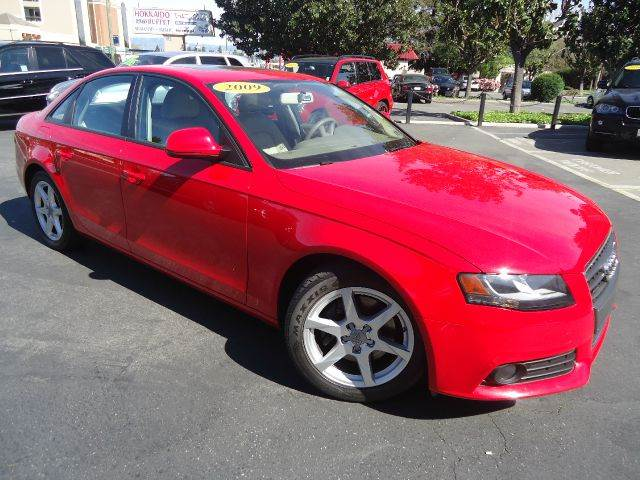 2009 AUDI A4 20T QUATTRO AWD PREMIUM 4DR SED red great buy  premium package with navigation