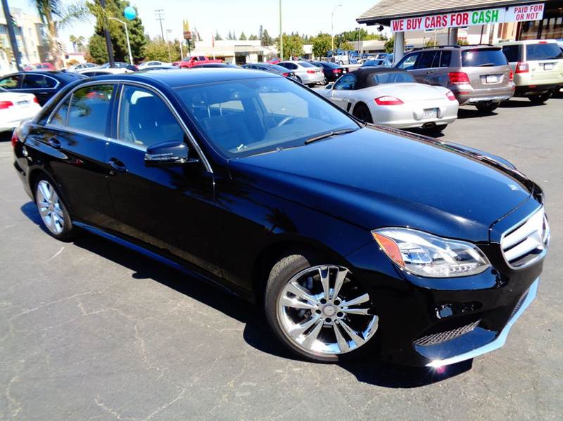 2014 MERCEDES-BENZ E-CLASS E350 SPORT 4DR SEDAN black clean carfax  low mileage  sport e350