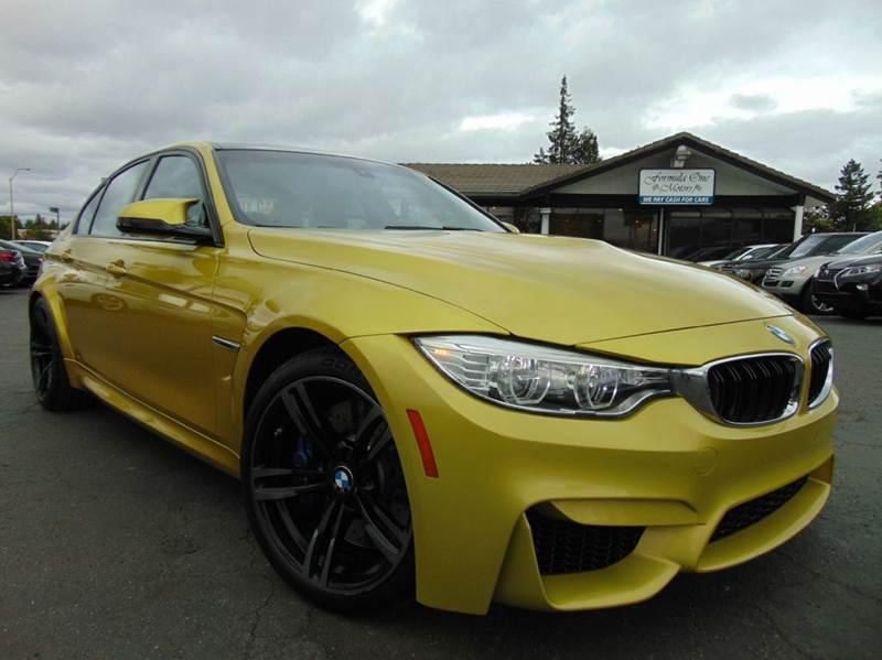 2015 BMW M3 BASE 4DR SEDAN austin yellow metallic 2-stage unlocking doors abs - 4-wheel air filt