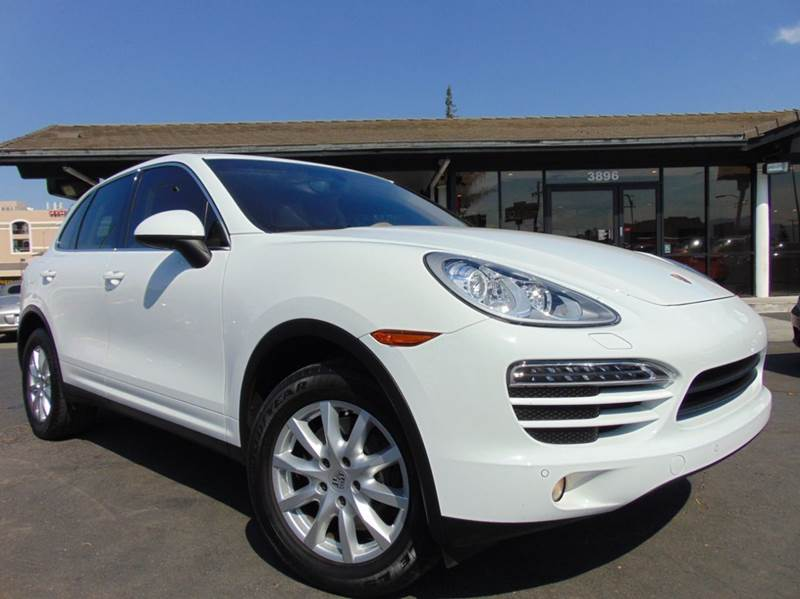 2014 PORSCHE CAYENNE BASE AWD 4DR SUV white clean carfax reportone ownercalifornia vehicle