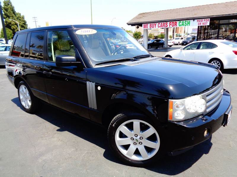 2007 LAND ROVER RANGE ROVER HSE 4DR SUV 4WD black clean carfax loaded navigation rear vie