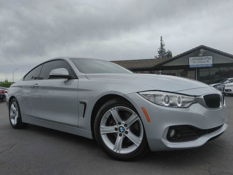 2014 BMW 4 SERIES 428I 2DR COUPE SULEV silver 2-stage unlocking doors abs - 4-wheel active head