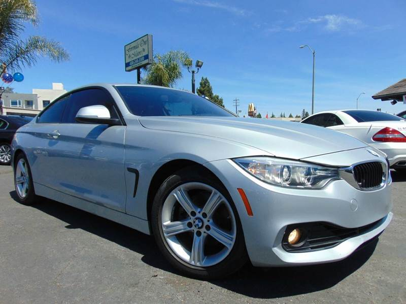 2014 BMW 4 SERIES 428I 2DR COUPE SULEV silver clean carfaxcalifornia vehiclenavigation