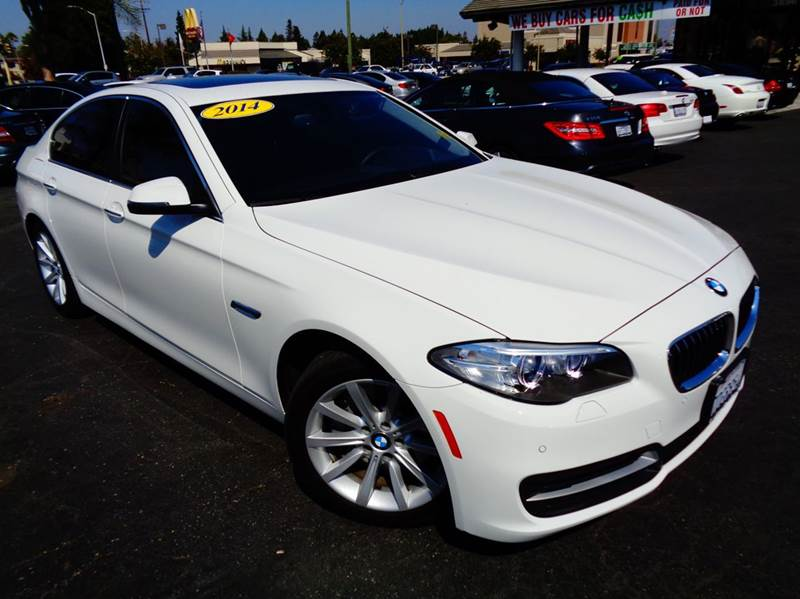 2014 BMW 5 SERIES 535I 4DR SEDAN white 1 owner  clean carfax  navigation  rear view cmaer