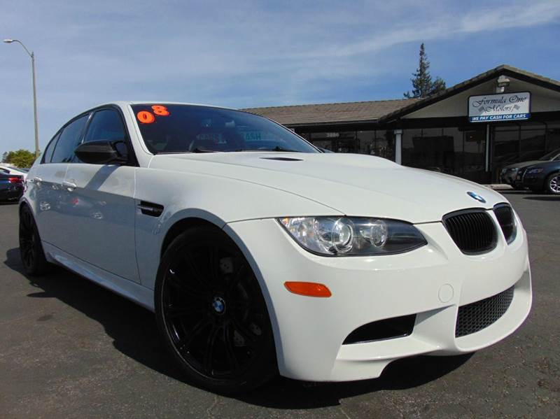2008 BMW M3 BASE 4DR SEDAN white clean carfaxcalifornia vehicledinan tuned wdinan exhaust