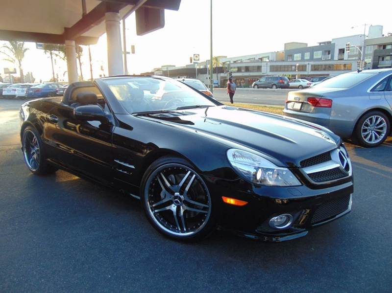 2009 MERCEDES-BENZ SL-CLASS SL 550 2DR CONVERTIBLE black 2-stage unlocking doors abs - 4-wheel