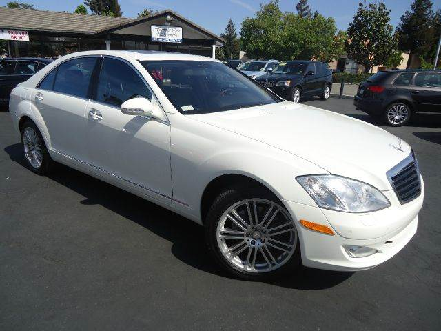 2009 MERCEDES-BENZ S-CLASS S550 4DR SEDAN white fully loaded navigation systemnight visio