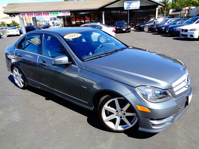 2012 MERCEDES-BENZ C-CLASS C250 SPORT 4DR SEDAN gray clean carfax  one owner low mileage