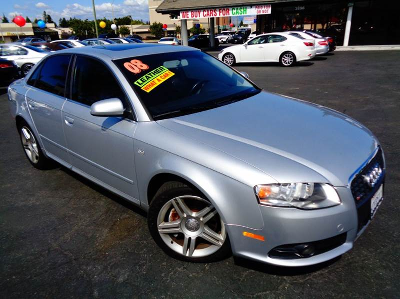 2008 AUDI A4 20T 4DR SEDAN 2L I4 CVT silver 2-stage unlocking doors abs - 4-wheel active hea