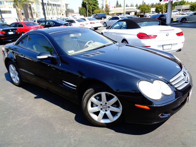 2003 MERCEDES-BENZ SL-CLASS SL500 2DR CONVERTIBLE black abs - 4-wheel anti-theft system - alarm