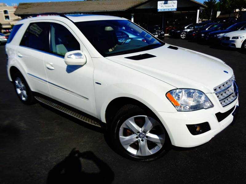 2010 MERCEDES-BENZ M-CLASS ML350 BLUETEC AWD 4MATIC 4DR SUV white diesel 2-stage unlocking do