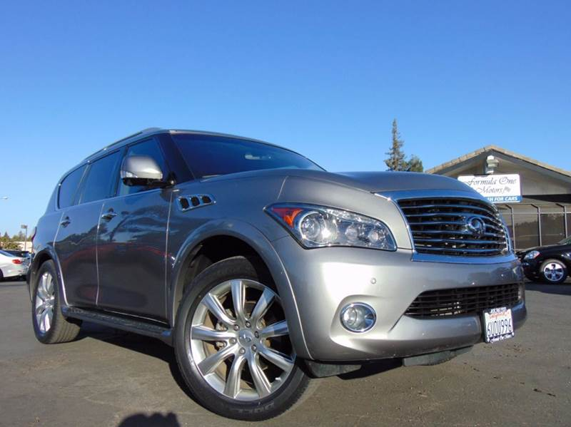 2011 INFINITI QX56 BASE 4X2 4DR SUV W SPLIT BENCH silver clean carfax history reportcaliforni