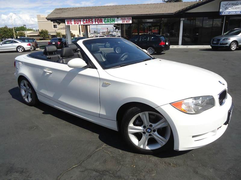2008 BMW 1 SERIES 128I 2DR CONVERTIBLE SULEV white clean carfax year one of the 1 loaded