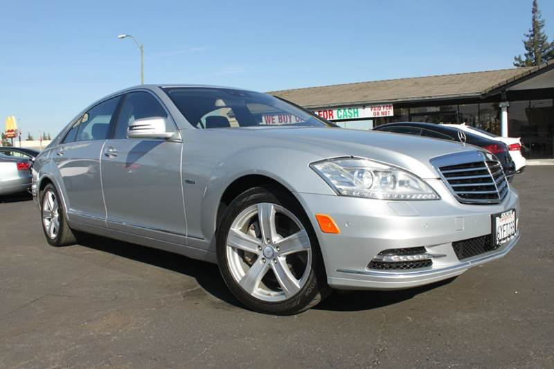 2012 MERCEDES-BENZ S-CLASS S 550 4DR SEDAN silver clean carfaxcalifornia vehiclenavigation