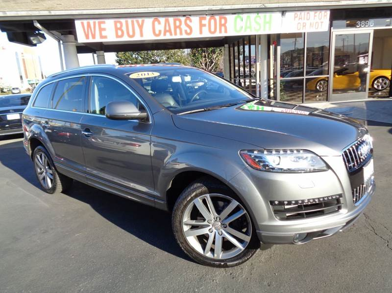 2013 AUDI Q7 30 QUATTRO TDI PRESTIGE AWD 4DR gray 1 owner clean carfaxprestige package