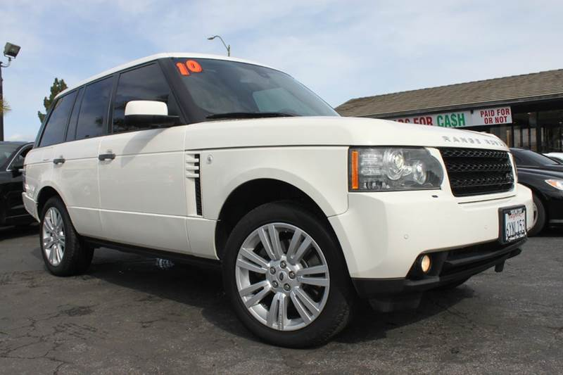 2010 LAND ROVER RANGE ROVER HSE 4X4 4DR SUV white 4wd selector - electronic hi-lo 4wd type - full
