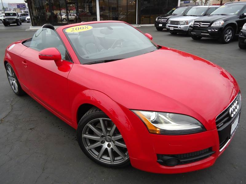 2008 AUDI TT 32 QUATTRO AWD 2DR CONVERTIBLE red 1 owner this is a clean carfax california vehi