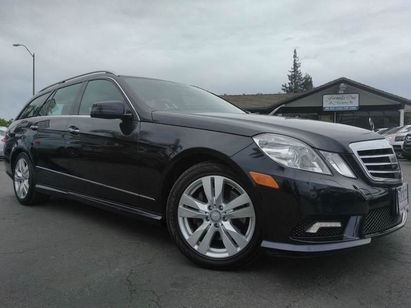 2011 MERCEDES-BENZ E-CLASS E 350 LUXURY 4MATIC AWD 4DR WAGO capri blue metallic clean carfaxc