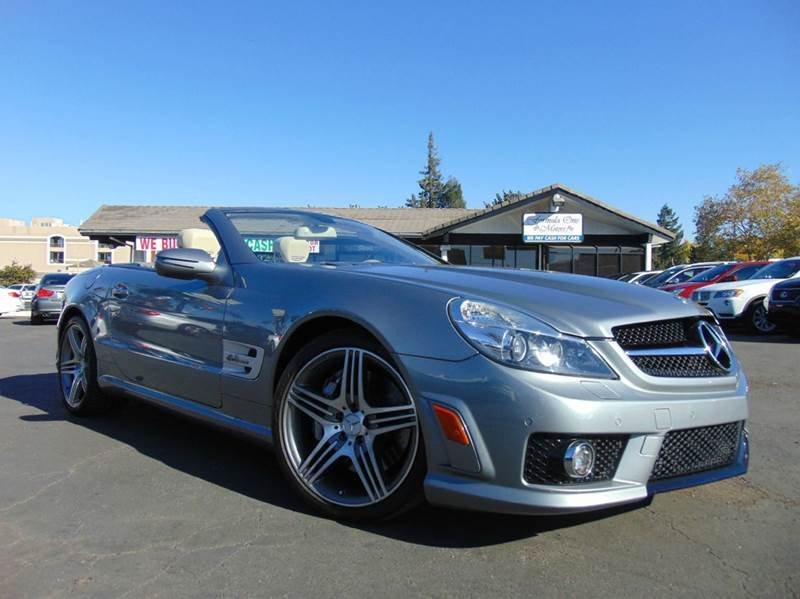 2011 MERCEDES-BENZ SL-CLASS SL 63 AMG 2DR CONVERTIBLE gray clean carfax history reportmeticulo
