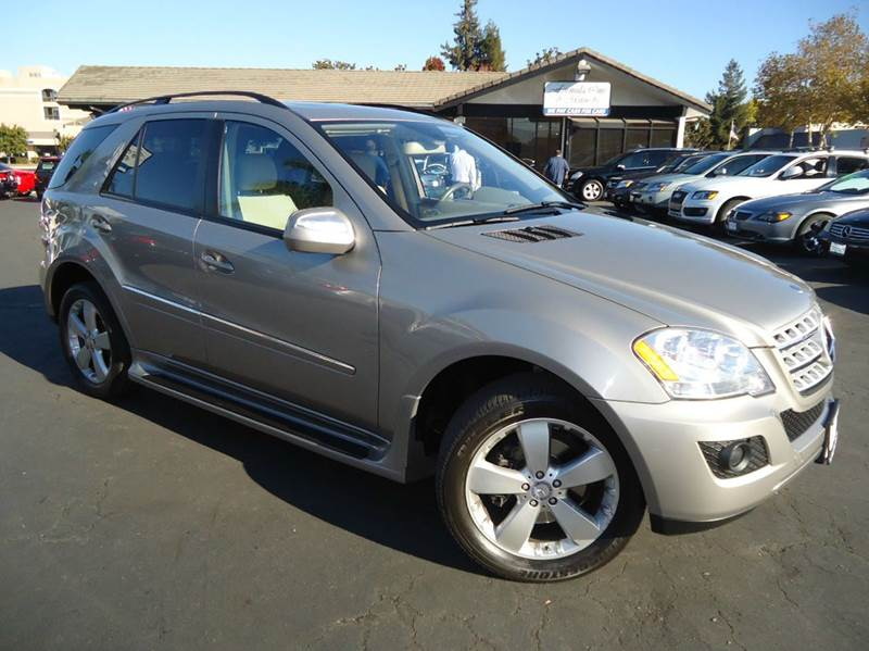2009 MERCEDES-BENZ M-CLASS ML350 4MATIC AWD 4DR SUV pewter metallic clean carfax fully loaded