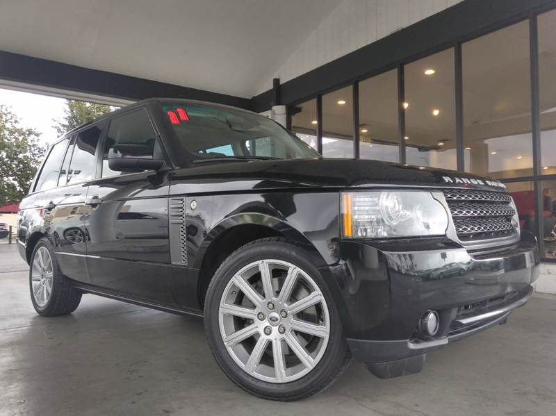2011 LAND ROVER RANGE ROVER HSE 4X4 4DR SUV black clean carfaxcalifornia vehiclenavigation