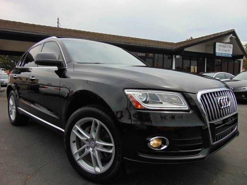 2015 AUDI Q5 20T QUATTRO PREMIUM PLUS AWD 4D black this is a beautiful brilliant black audi q5 l