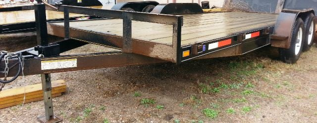 2013 USED 18 FOOT FLATBED