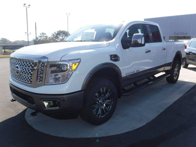 2017 nissan titan xd 4x4 platinum reserve 4dr crew cab diesel in enterprise al mitchell nissan. Black Bedroom Furniture Sets. Home Design Ideas