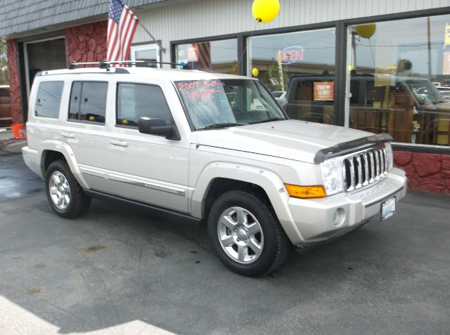 2007 JEEP COMMANDER LIMITED 4DR SUV 4WD silver fully loaded suv with leather pw pl tilt cruise