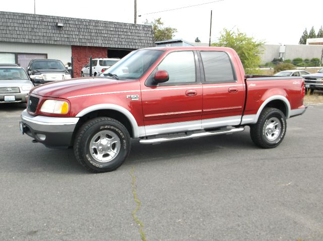 2002 FORD F-150 LARIAT 4DR SUPERCREW 4WD STYLESI gray super clean truck with all the bells  leath