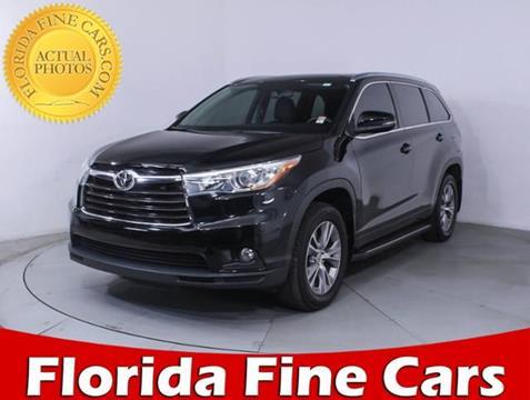 2015 Toyota Highlander for sale in Miami, FL