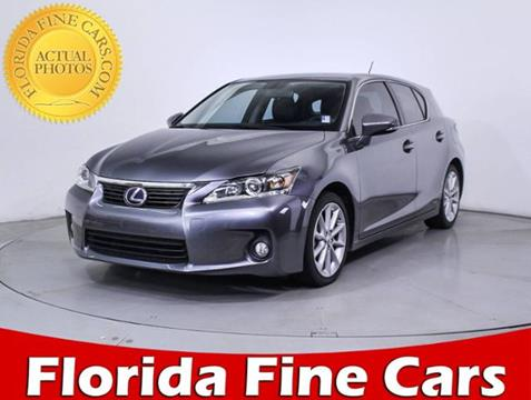 2013 Lexus CT 200h for sale in Hollywood, FL