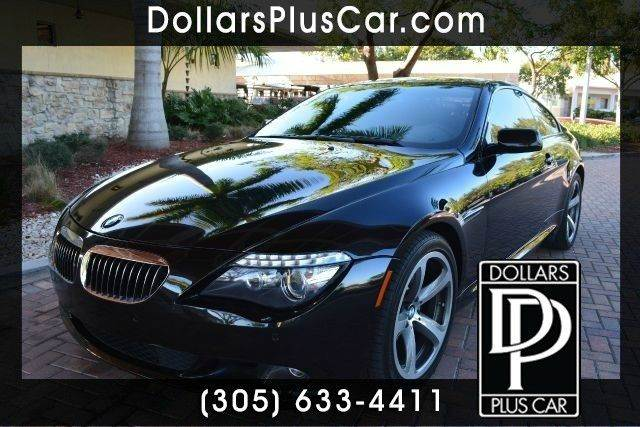 2009 BMW 6 SERIES 650I 2DR COUPE black dollars plus car truly has the best prices   average mark