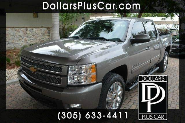 2012 CHEVROLET SILVERADO 1500 LTZ 4X4 4DR CREW CAB 58 FT SB greystone dollars plus car truly has