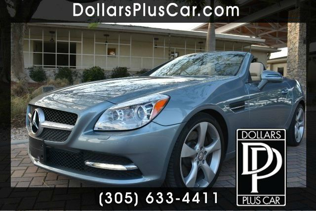 2012 MERCEDES-BENZ SLK-CLASS SLK350 2DR CONVERTIBLE silver mist dollars plus car truly has the low