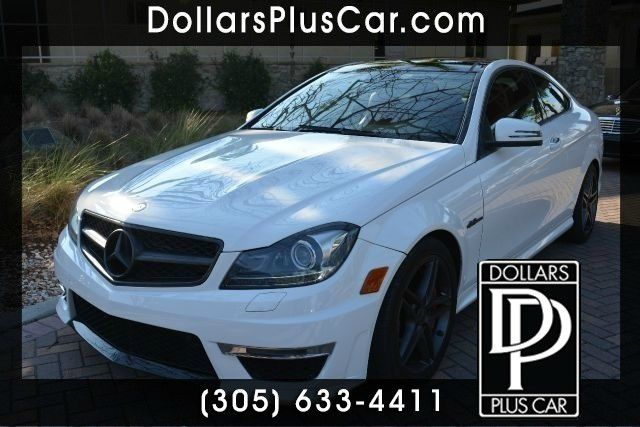 2013 MERCEDES-BENZ C-CLASS C63 AMG 2DR COUPE white dollars plus car truly has the best prices  m