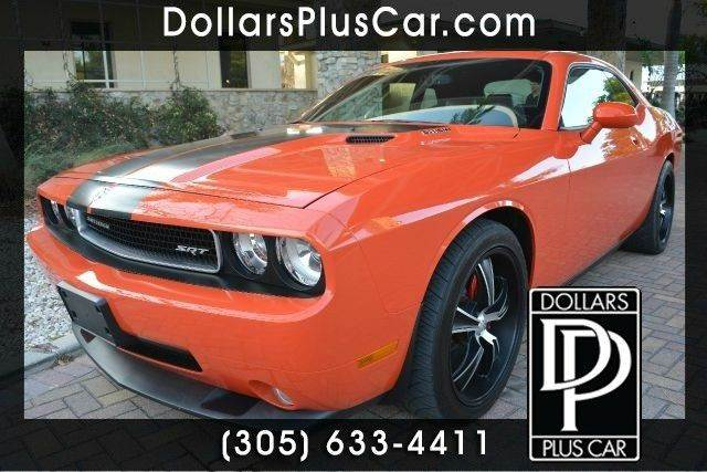 2010 DODGE CHALLENGER SRT8 2DR COUPE orange dollars plus car truly has the best prices  market pr